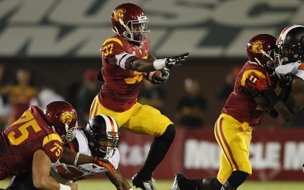 Tailback Javorius Allen on Track to be USC Football MVP Again