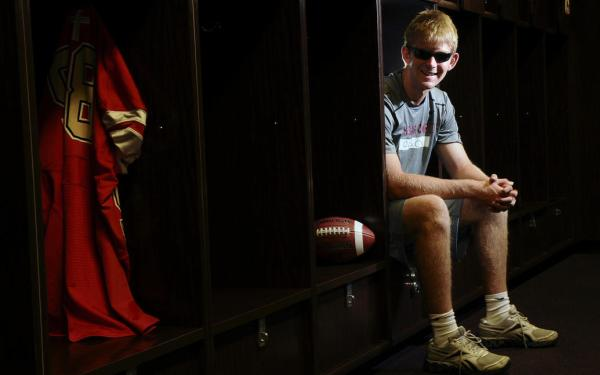 Blind fan inspired USC's football team; now he could be a part of it