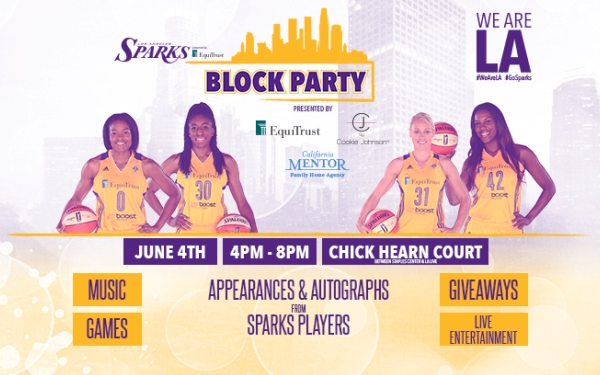 Sparks to host #WeAreLA block party on Thursday, June 4