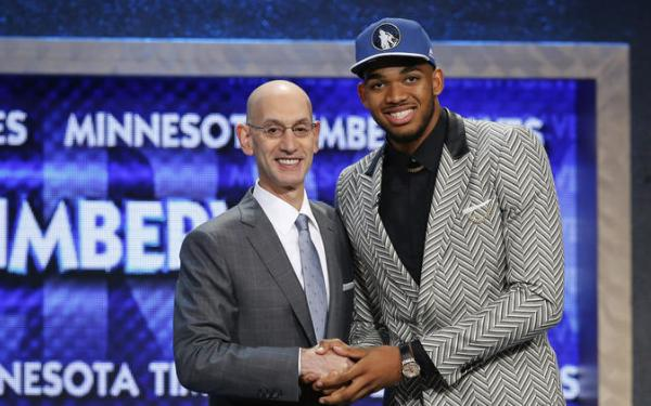 Karl-Anthony Towns, D'Angelo Russell go No. 1 and No. 2 at NBA draft
