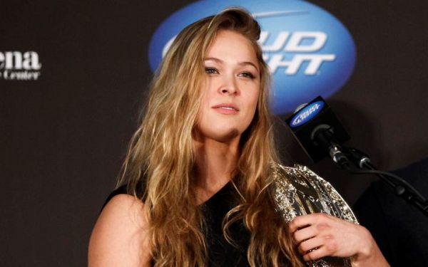 UFC's Ronda Rousey shows she's up for any challenge