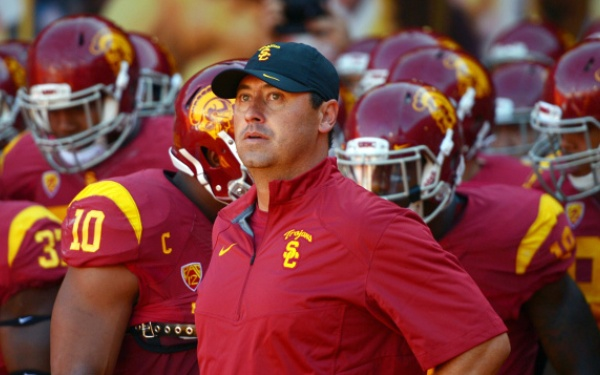 USC coach Sarkisian apologizes after using expletive, slurring words at campus event