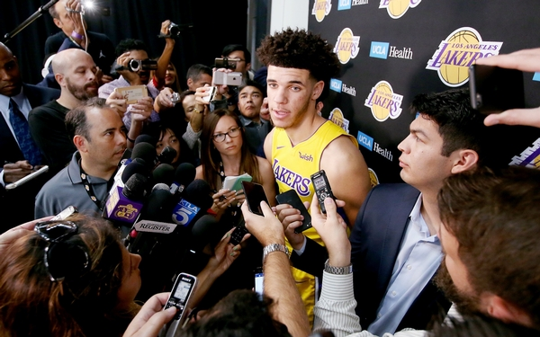 Lonzo Ball's learning curve starts by playing against defensive star Patrick Beverley