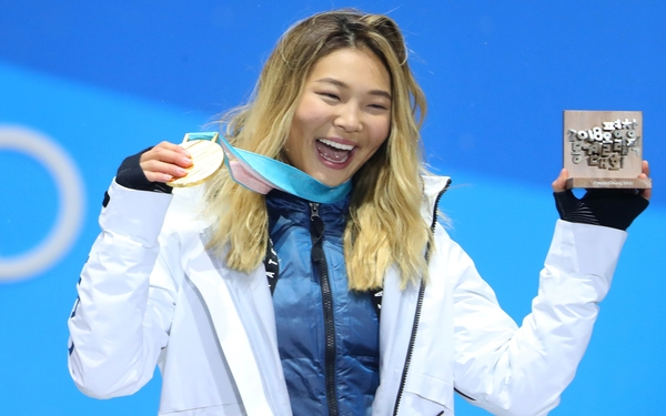 Chloe Kim wins gold in halfpipe at the Pyeongchang Olympic Games