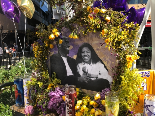 Laker Fans Create Kobe Bryant Memorial at Staples Center and L.A. Live