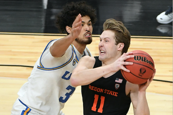UCLA collapses late again in overtime loss to Oregon State in Pac-12 tournament