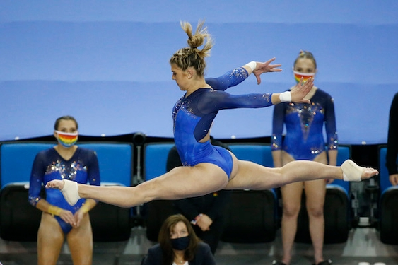 UCLA gymnastics team enjoys a 'special' home finale win over San Jose State
