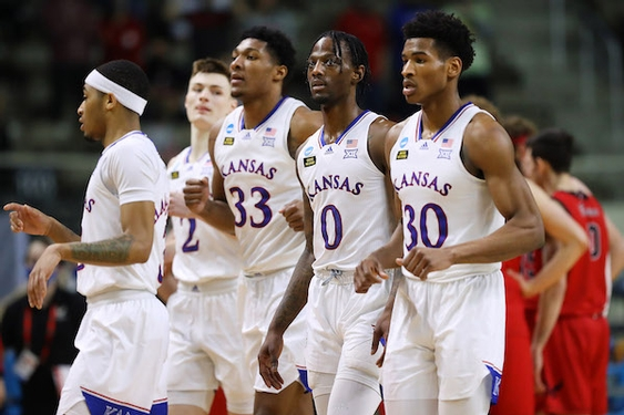 Kansas rallies from 10 down, gets past 14 seed Eastern Washington in NCAA first round
