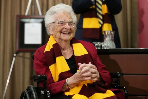 Sister Jean has reviewed the game film — and the 101-year-old chaplain is confident Loyola can win