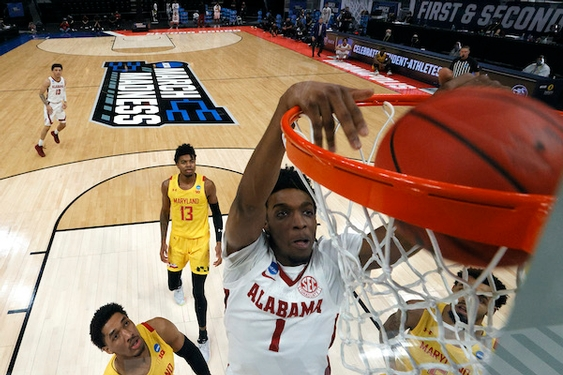 No. 10 Maryland men's basketball can't keep up with #2 Alabama, is eliminated from NCAA tournament.