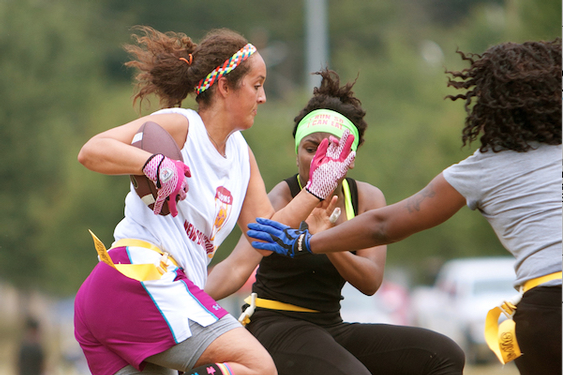 Women's flag football is becoming an official sport at junior colleges with NFL grant