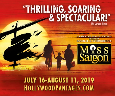 Miss Saigon Comes to the Hollywood Pantages Theatre (July 16 thru August 11)
