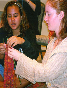 Knitting Trend Keeps Students in Stitches