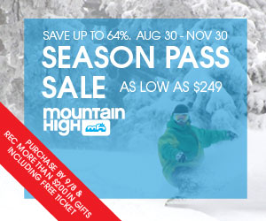 Mountain High Season Pass Sale
